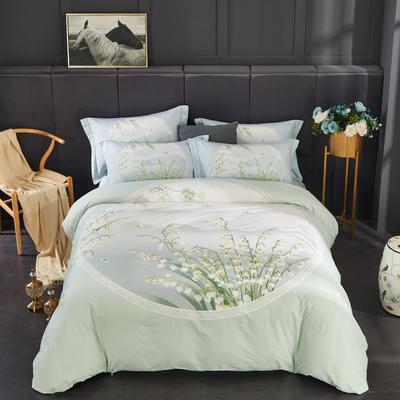 全棉匹马棉四件套 印象花语 1.8m(6英尺)床 印象花语