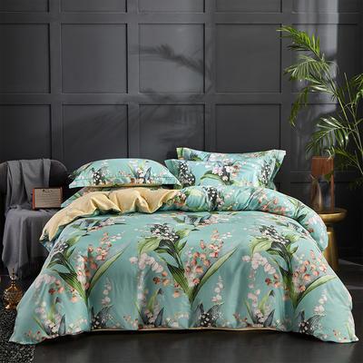 60长绒棉印花款 花舞盛宴-绿 2.0m(6.6英尺)床 花舞盛宴-绿