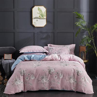 60长绒棉印花款 蔓延-粉 1.8m(6英尺)床 蔓延-粉