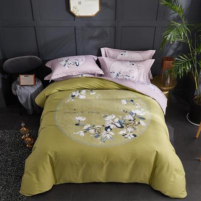 60长绒棉印花款 翩翩花语-黄 1.8m(6英尺)床 翩翩花语-黄