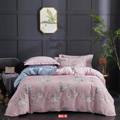 60长绒棉印花款 花型综合 2.0m 床 蔓延-粉