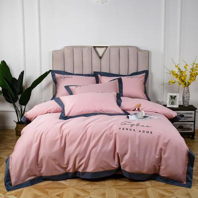 60长绒棉拼色款 1.5m(5英尺)床 萝莉粉