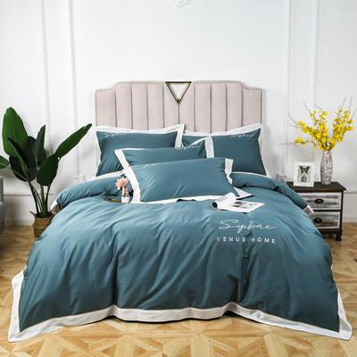 60长绒棉拼色款 1.5m(5英尺)床 浅石兰