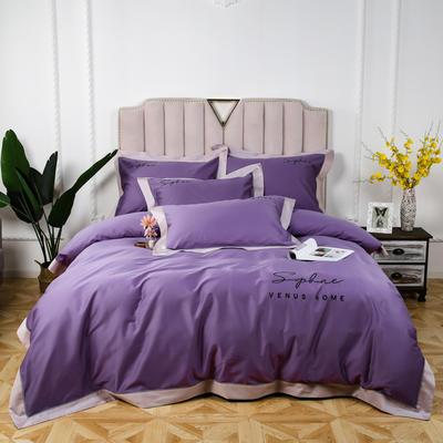 60长绒棉拼色款 1.5m(5英尺)床 浅雪青