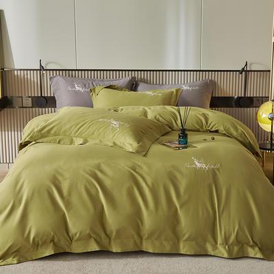 2021新款全棉磨毛绣花系列四件套—奥多兰 1.8m床单款四件套 奥多兰豆绿