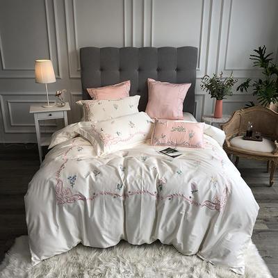 2019新款60支新品四件套 1.8m床单款四件套 洛丽思-珍珠白