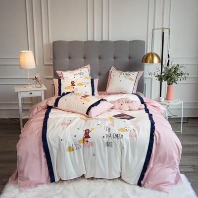 2020新款60支新品四件套 1.5m床单款四件套 瑞秋-粉色