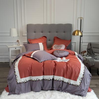 2020新款60支新品四件套 1.5m床单款四件套 斯威特-桔色