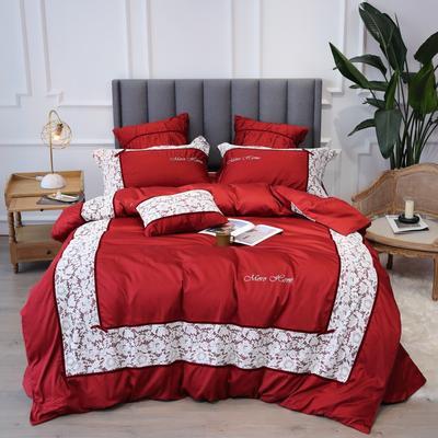 2019新款60支新品四件套 1.5m床单款四件套 伊莎贝尔-大红