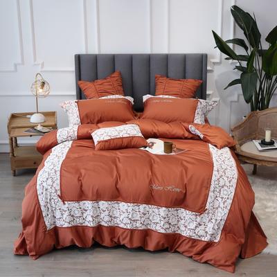 2019新款60支新品四件套 1.5m床单款四件套 伊莎贝尔-棕褐色