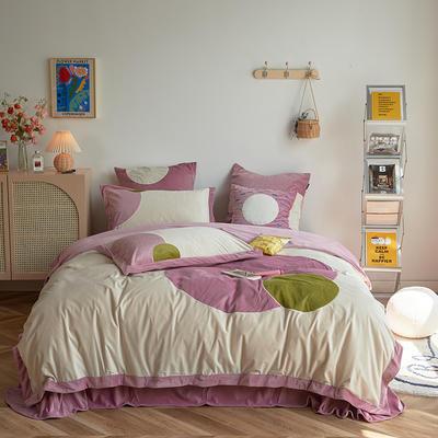 2020新款宝宝绒四件套 1.5m床单款四件套 米娜-粉色