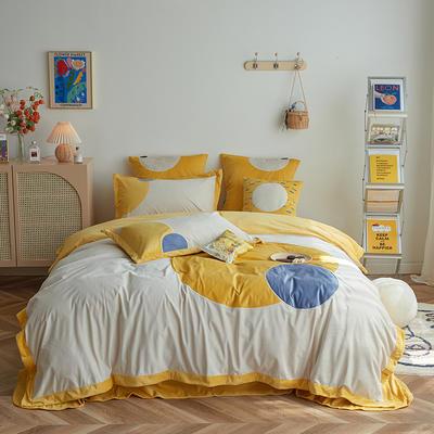 2020新款宝宝绒四件套 1.5m床单款四件套 米娜-黄色