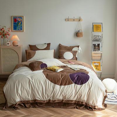 2020新款宝宝绒四件套 1.5m床单款四件套 米娜-咖色