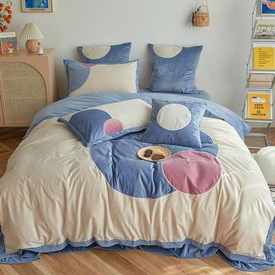 2020新款宝宝绒四件套 1.5m床单款四件套 米娜-蓝色