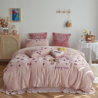 2020新款宝宝绒四件套 1.5m床单款四件套 万妮莎
