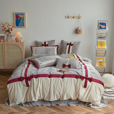 2020新款宝宝绒四件套 1.5m床单款四件套 维拉
