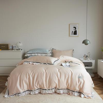 2021新款80天丝系列四件套-莫妮卡 1.5m床单款四件套 肉粉色