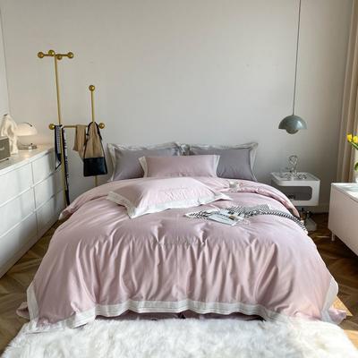 2021新款100支贡缎长绒棉系列四件套-安娜 1.5m床单款四件套 极简紫