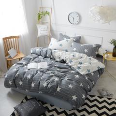 简约磨毛四件套系列 标准(1.5m-1.8m)床 安东-灰