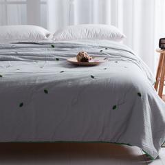 单层纱绣花夏被 150x200cm 绿叶