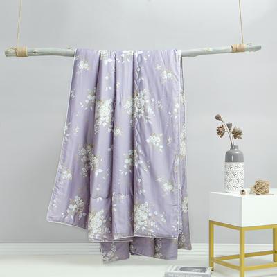 2019 60S天丝印花夏被 200x230cm 幽香如梦-紫