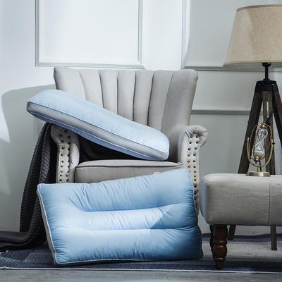 2019新品枕芯 复合冰丝枕 蓝色低枕