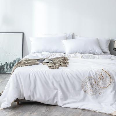 2019新款蚕丝被冬被被芯—60s-贡缎刺绣款 200X230cm  4斤 小夜曲
