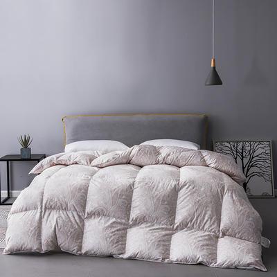 2019新款羽绒被冬被被芯—100支数码印花 200X230cm  2.4斤 淡雅生活(90白鹅绒)