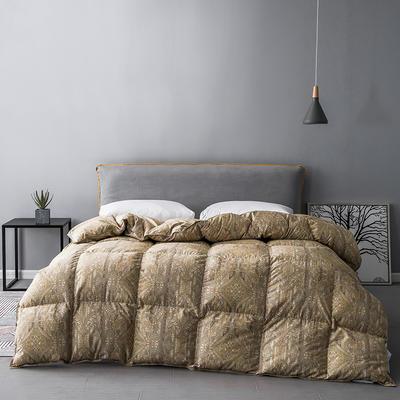 2019新款羽绒被冬被被芯—100支数码印花 200X230cm  2.4斤 皇家庭院(90白鹅绒)