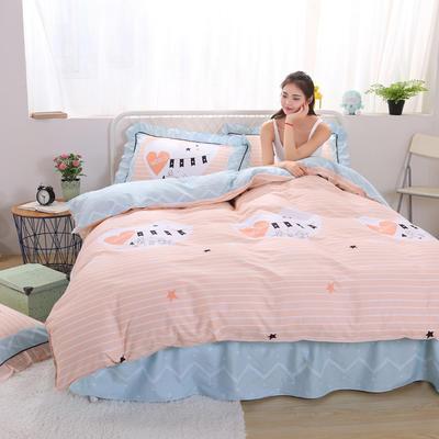 2018新款纯棉床裙四件套 1.2m(4英尺)床 快递盒子(包装)