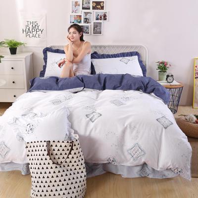 2018新款纯棉床裙四件套 1.2m(4英尺)床 富贵人生