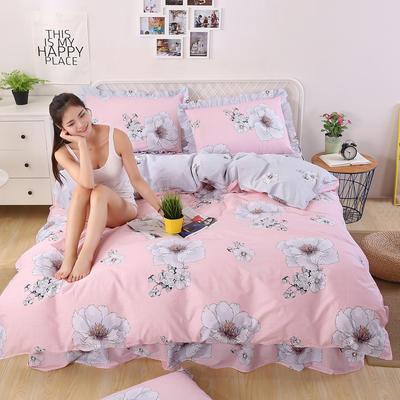 2018新款纯棉床裙四件套 1.2m(4英尺)床 华丽绽放