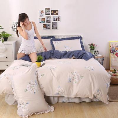 2018新款纯棉床裙四件套 1.2m(4英尺)床 美丽约定