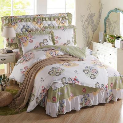 2018新款纯棉床裙四件套 1.2m(4英尺)床 珍妮花园