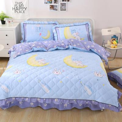 2018新款纯棉夹棉四件套 1.2m(4英尺)床 月野兔