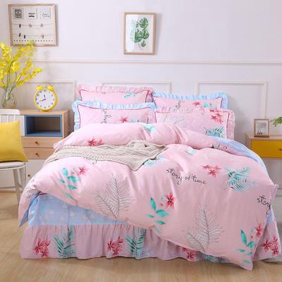 2018新款夹棉床裙四件套 1.2m(4英尺)床 梦游仙境
