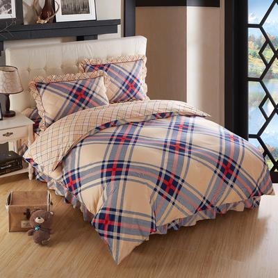 2018新款夹棉床裙四件套 1.2m(4英尺)床 米兰风