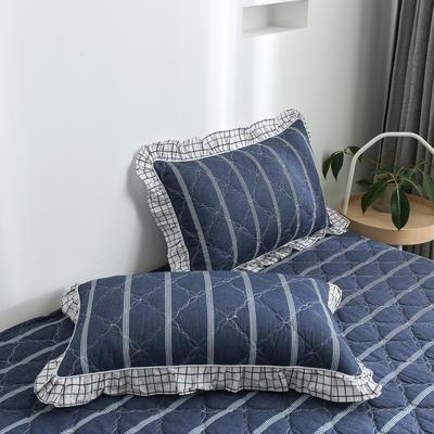 2020新款12868韩版单品系列-单品加棉花边枕套 48cmX74cm/对 芬迪