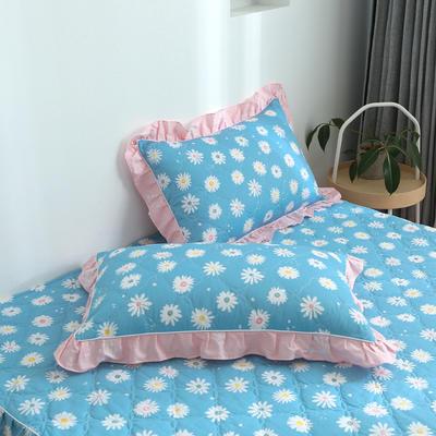 2020新款12868韩版单品系列-单品加棉花边枕套 48cmX74cm/对 金蕊花香