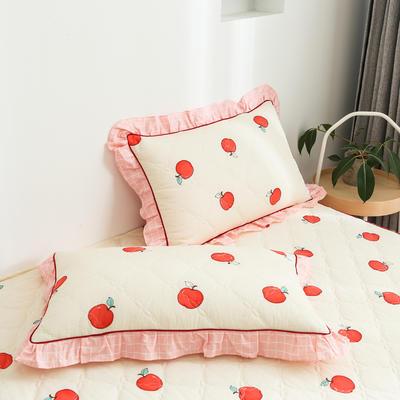 2020新款12868韩版单品系列-单品加棉花边枕套 48cmX74cm/对 蜜果-黄