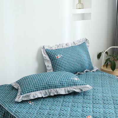 2020新款12868韩版单品系列-单品加棉花边枕套 48cmX74cm/对 时尚之都