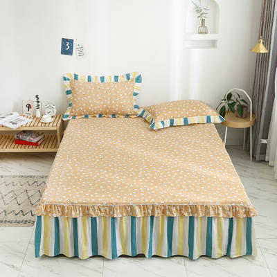 2020新款12868韩版单品系列-单品床裙 150cmx200cm 夏末之晨-黄