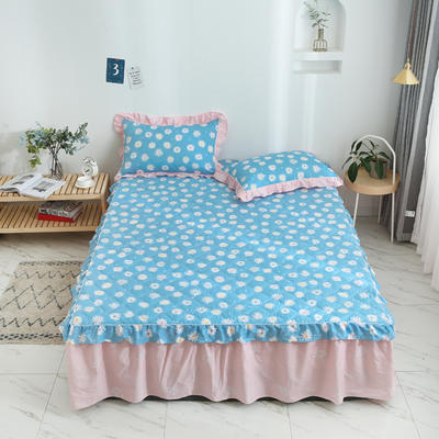 2020新款12868韩版单品系列-单品加棉床裙 150cmx200cm 金蕊花香