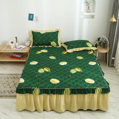 2020新款12868韩版单品系列-单品加棉床裙 150cmx200cm 榴莲