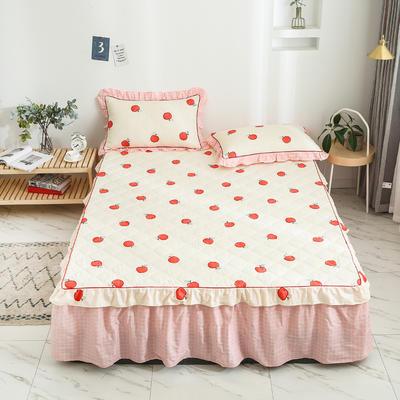 2020新款12868韩版单品系列-单品加棉床裙 150cmx200cm 蜜果-黄