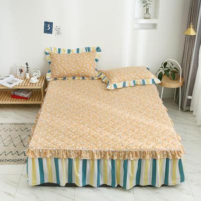 2020新款12868韩版单品系列-单品加棉床裙 120cmx200cm 夏末之晨-黄