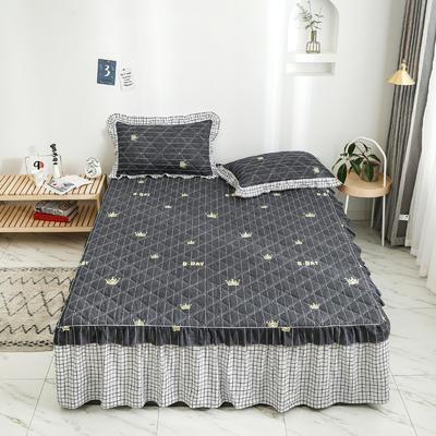 2020新款12868韩版单品系列-单品加棉床裙 150cmx200cm 英式格调