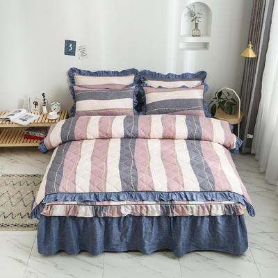 2020新款12868韩版单品系列-单品夹棉被套 220x240cm 爵士风情-豆沙