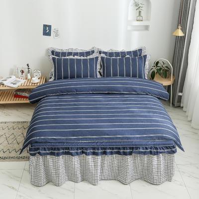 2020新款12868单层床裙款四件套 1.2m床裙款三件套 芬迪