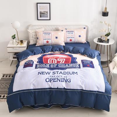 2020新款13372全棉活性印花卡通床裙款四件套-单层款 1.5m床单款四件套 流行驿站